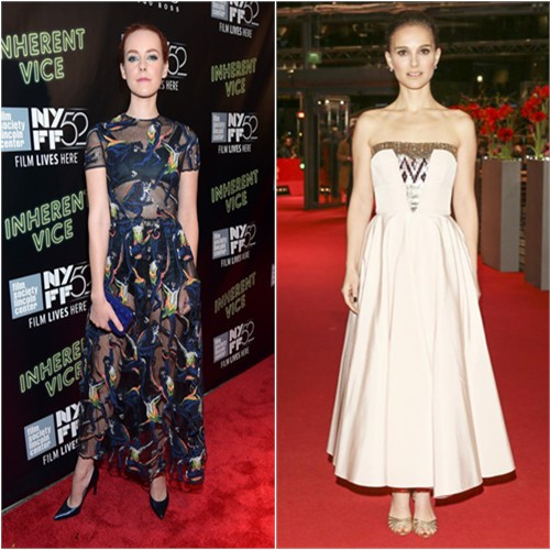 Jena in Valentino; Natalie in Dior