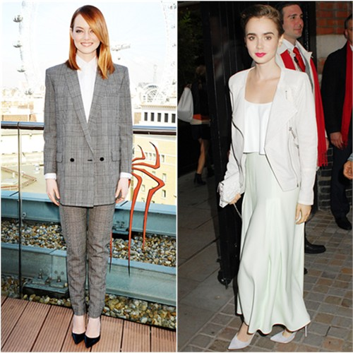 Emma in Saint Laurent; Lily in Houghton