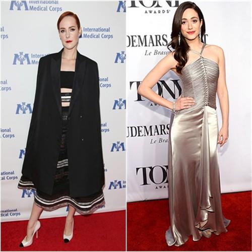 Jena in Reem Acra; Emmy in Ralph Lauren