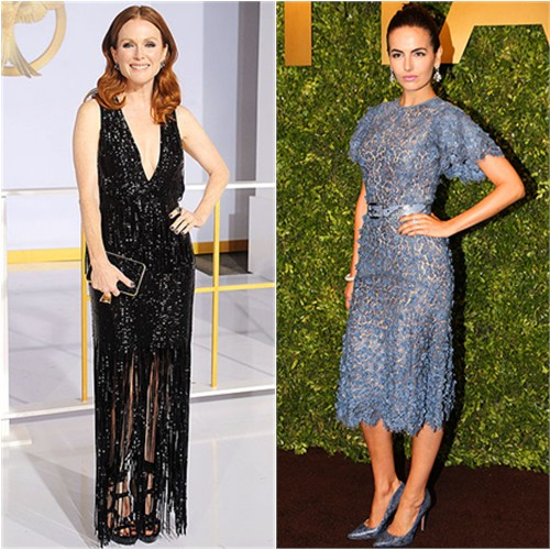 Julianne in Tom Ford; Camilla in Michael Kors