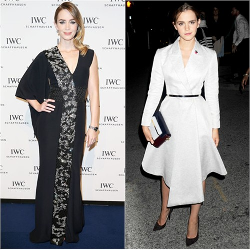 Emily in McQueen; Emma in Dior
