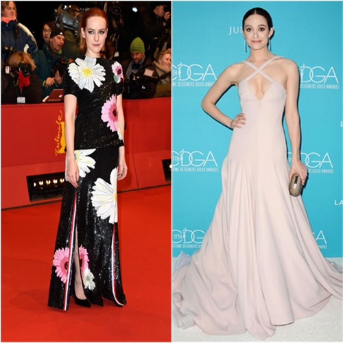 Jena in Thom Browne; Emmy in Donna Karan