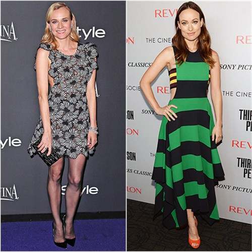 Diane in Giamba; Olivia in Stella McCartney