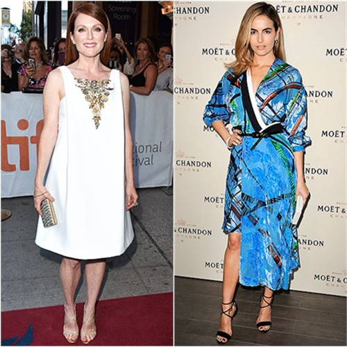Julianne in Chanel; Camilla in Preen