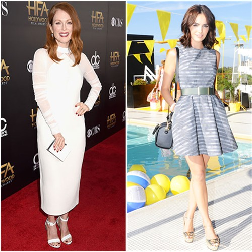 Julianne in Balenciaga; Camilla in Kate Spade