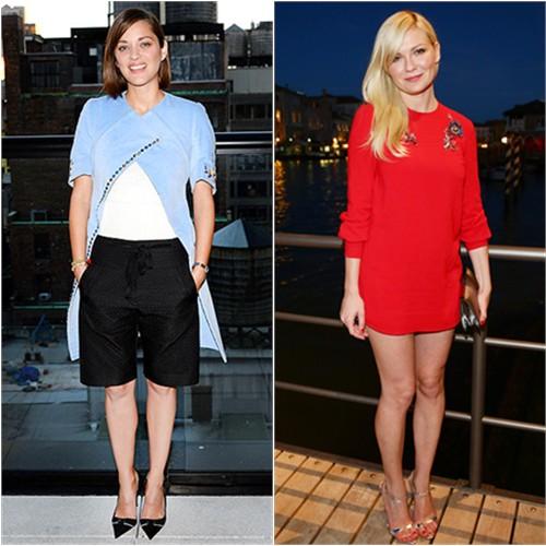 Marion in Dior; Kirsten in Miu Miu