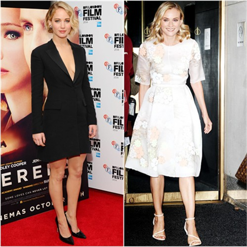 Jennifer in Dior; Diane in Honor