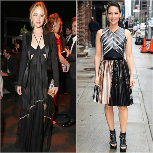 Jennifer in Altuzarra; Lucy in Proenza Schouler