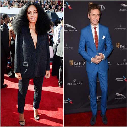 Solange in H&M; Eddie in McQueen
