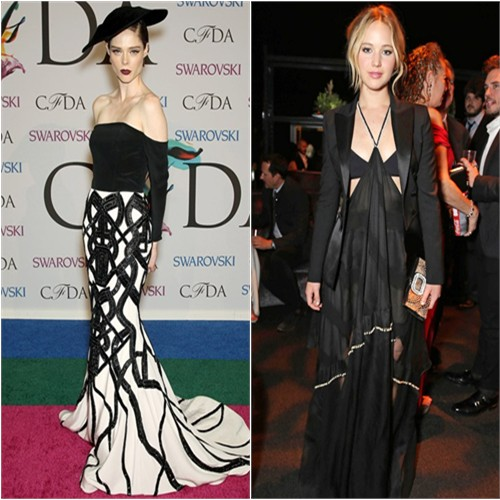 Coco in Christian Siriano; Jennifer in Altuzarra