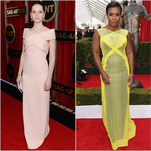 Felicity in Balenciaga; Uzo in Angel Sanchez