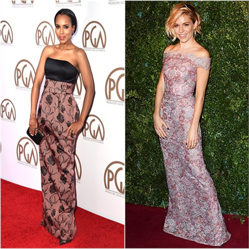 Kerry in Prabal Gurung; Sienna in Burberry
