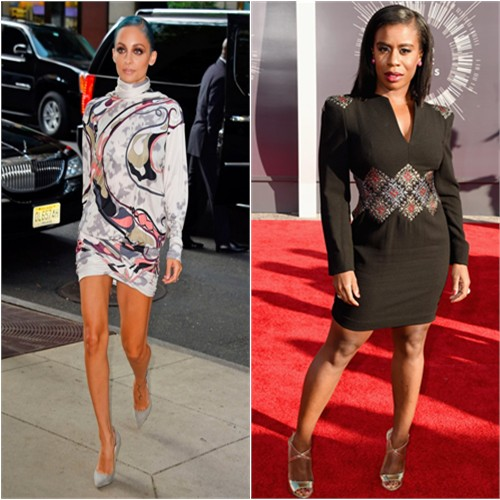 Nicole in Emilio Pucci; Uzo in Alexandra New York