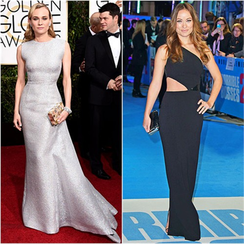 Diane in Emilia Wickstead; Olivia in Michael Kors