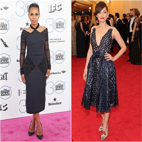 Kerry in Balenciaga; Marion in Dior
