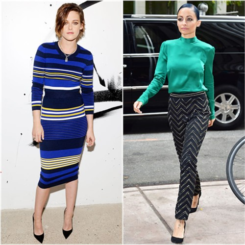 Kristen in Torn by Ronny Kobo; Nicole in Blumarine