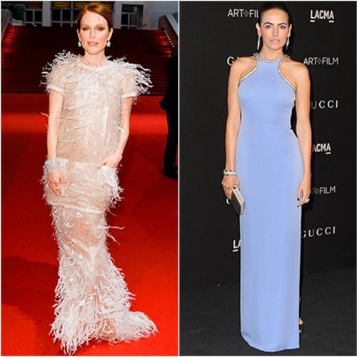 Julianne in Chanel; Camilla in Gucci