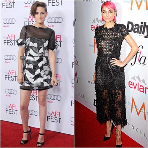 Kristen in Chanel; Nicole in Alfredo Villalba