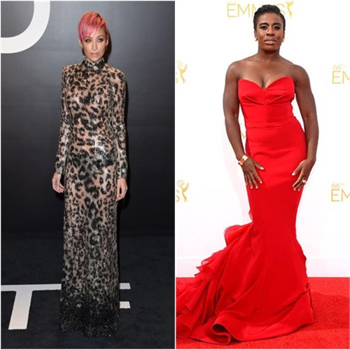 Nicole in Tom Ford; Uzo in Christian Siriano