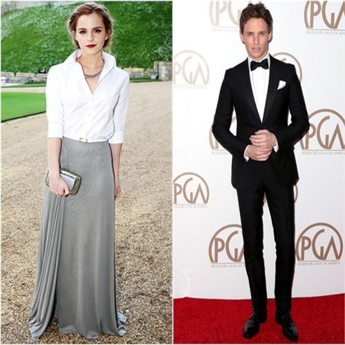 Emma in Ralph Lauren; Eddie in Gucci