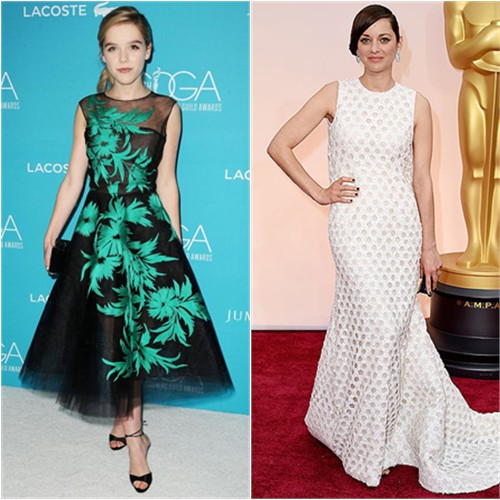 Kiernan in Oscar de la Renta; Marion in Chanel