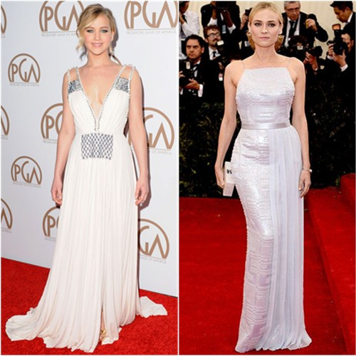 Jennifer in Prada; Diane in Hugo Boss