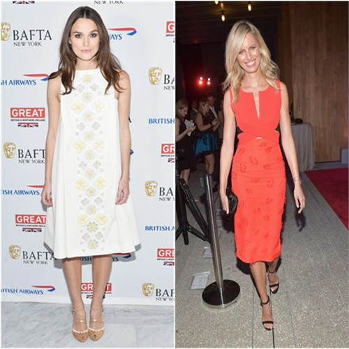 Keira in Holly Fulton; Karolina in Roland Mouret