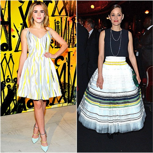 Kiernan in Preen; Marion in Dior