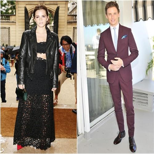 Emma in BLK DNM/Dior; Eddie in Burberry