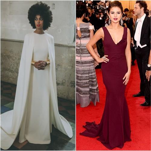 Solange in Humberto Leon; Selena in Diane von Furstenberg