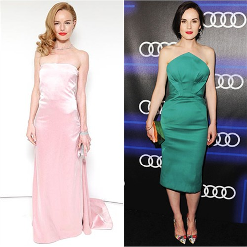 Kate in Katie Ermilio; Michelle in Zac Posen