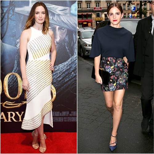 Emily in David Koma; Emma in Dior