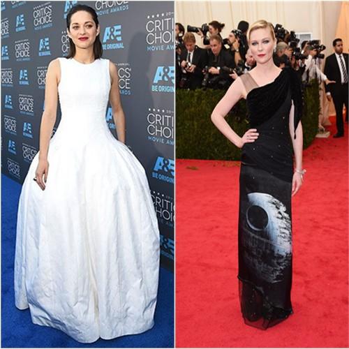 Marion in Dior; Kirsten in Rodarte