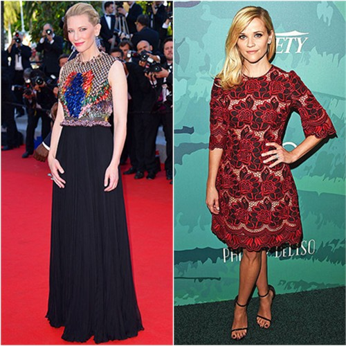 Cate in Givenchy; Reese in Dolce & Gabbana