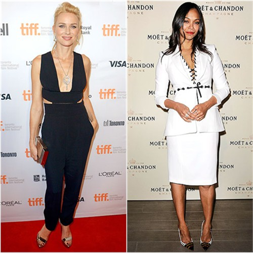 Naomi in Stella McCartney; Zoe in Altuzarra
