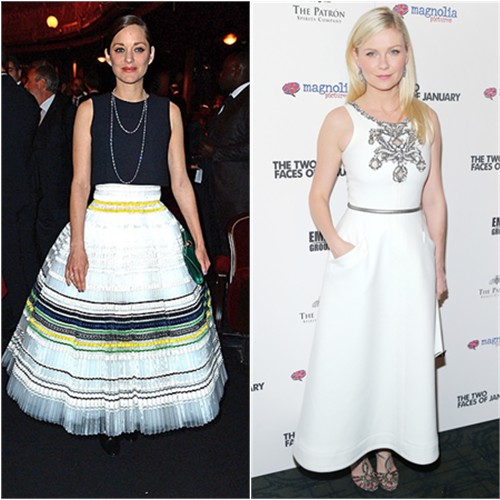 Marion in Dior; Kirsten in Chanel