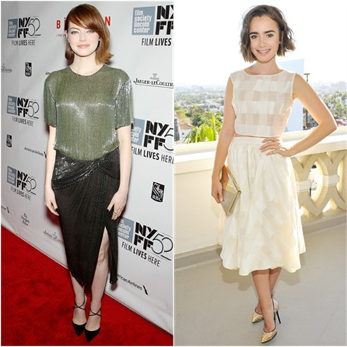 Emma in Jason Wu; Lily in Houghton