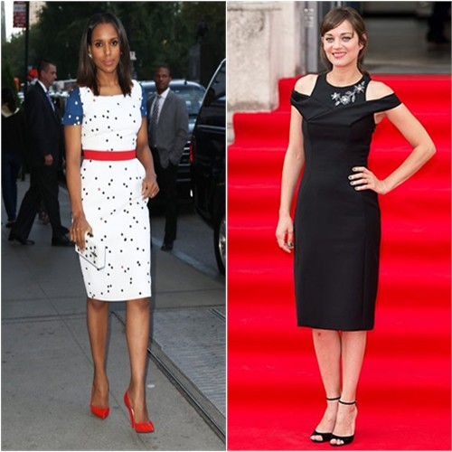 Kerry in Preen; Marion in Dior