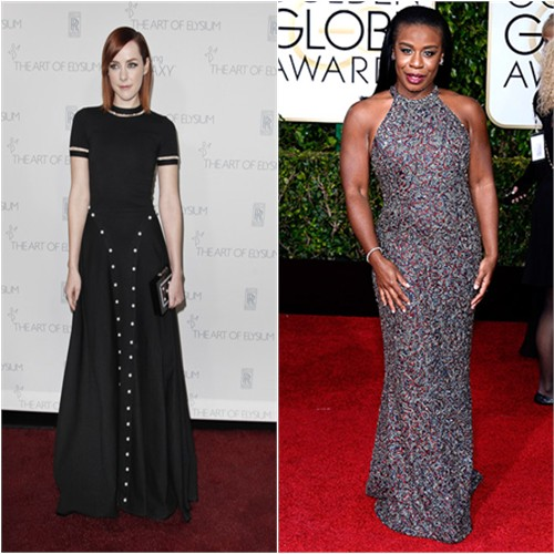 Jena in Adam Selman; Uzo in Randi Rahm