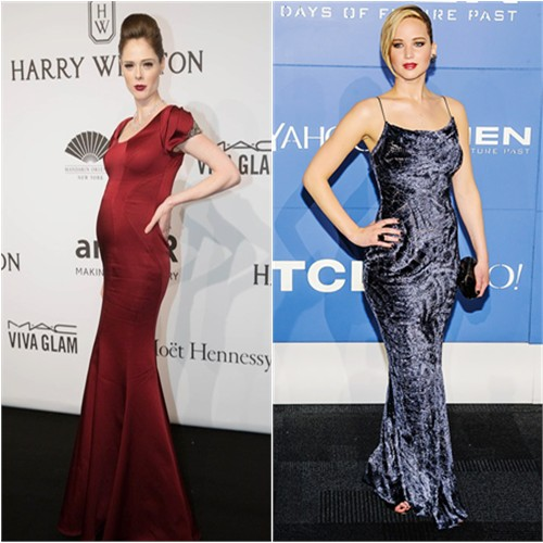 Coco in Zac Posen; Jennifer in Jason Wu