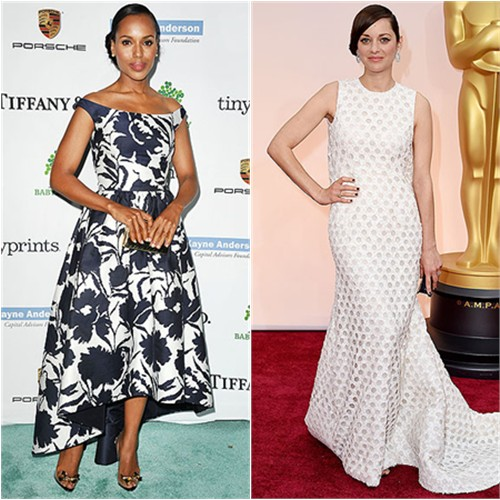 Kerry in Oscar de la Renta; Marion in Chanel