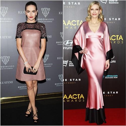 Camilla in Gucci; Cate in McQueen