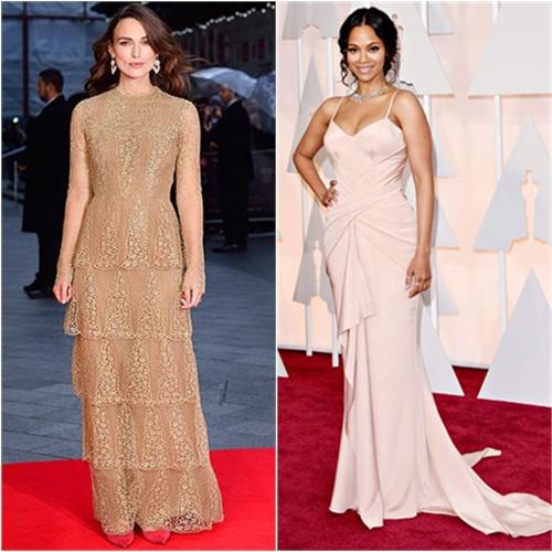 Keira in Valentino; Zoe in Atelier Versace