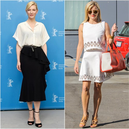 Cate in Givenchy; Reese in Lovers + Friends