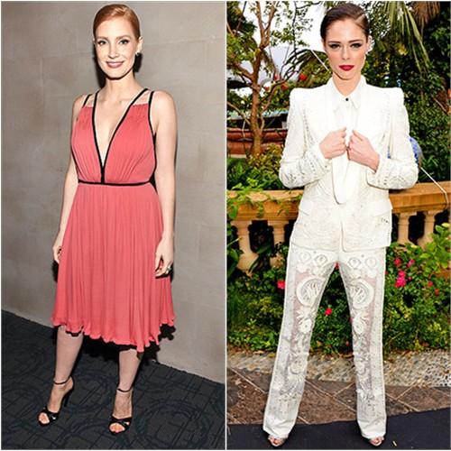 Jessica in Prada; Coco in Roberto Cavalli