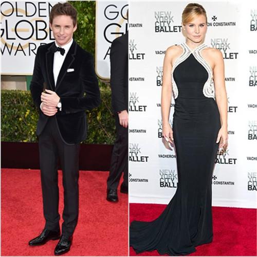 Eddie in Gucci; Kristen in Zuhair Murad