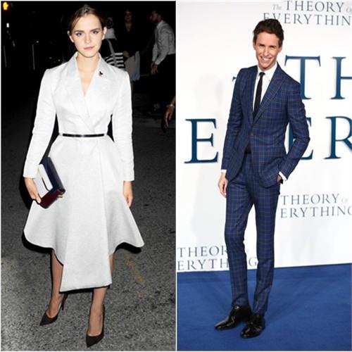 Emma in Dior; Eddie in Hardy Amies