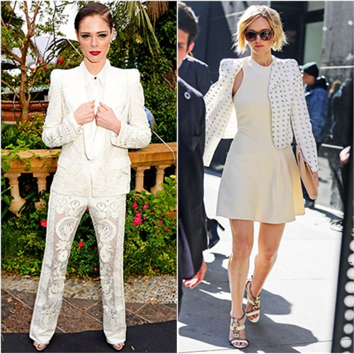 Coco in Roberto Cavalli; Jennifer in Chloé/3.1 Phillip Lim