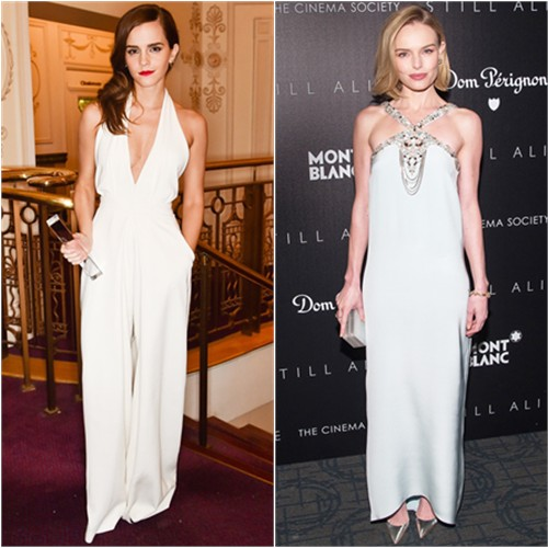 Emma in Misha Nonoo; Kate in Oscar de la Renta