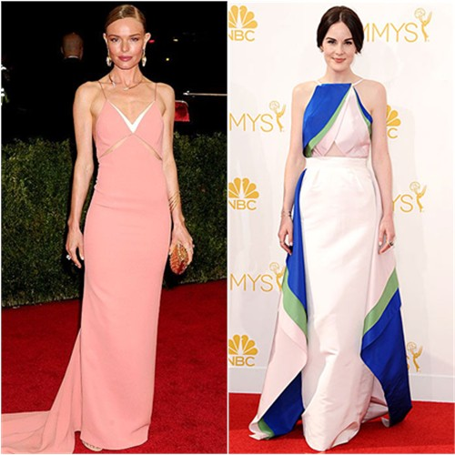 Kate in Stella McCartney; Michelle in Rosie Assoulin